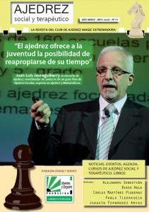 """Portada de la revista """"Ajedrez social y terapéutico"""" nº 11 - junio 2015"""